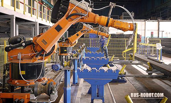 Фото промышленного робота КУКА